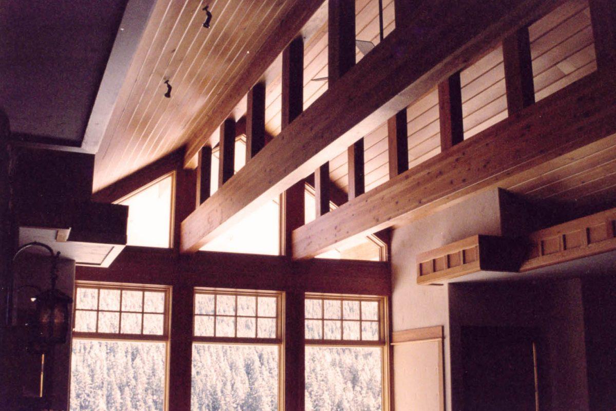 Gallatin Valley Residence+beams