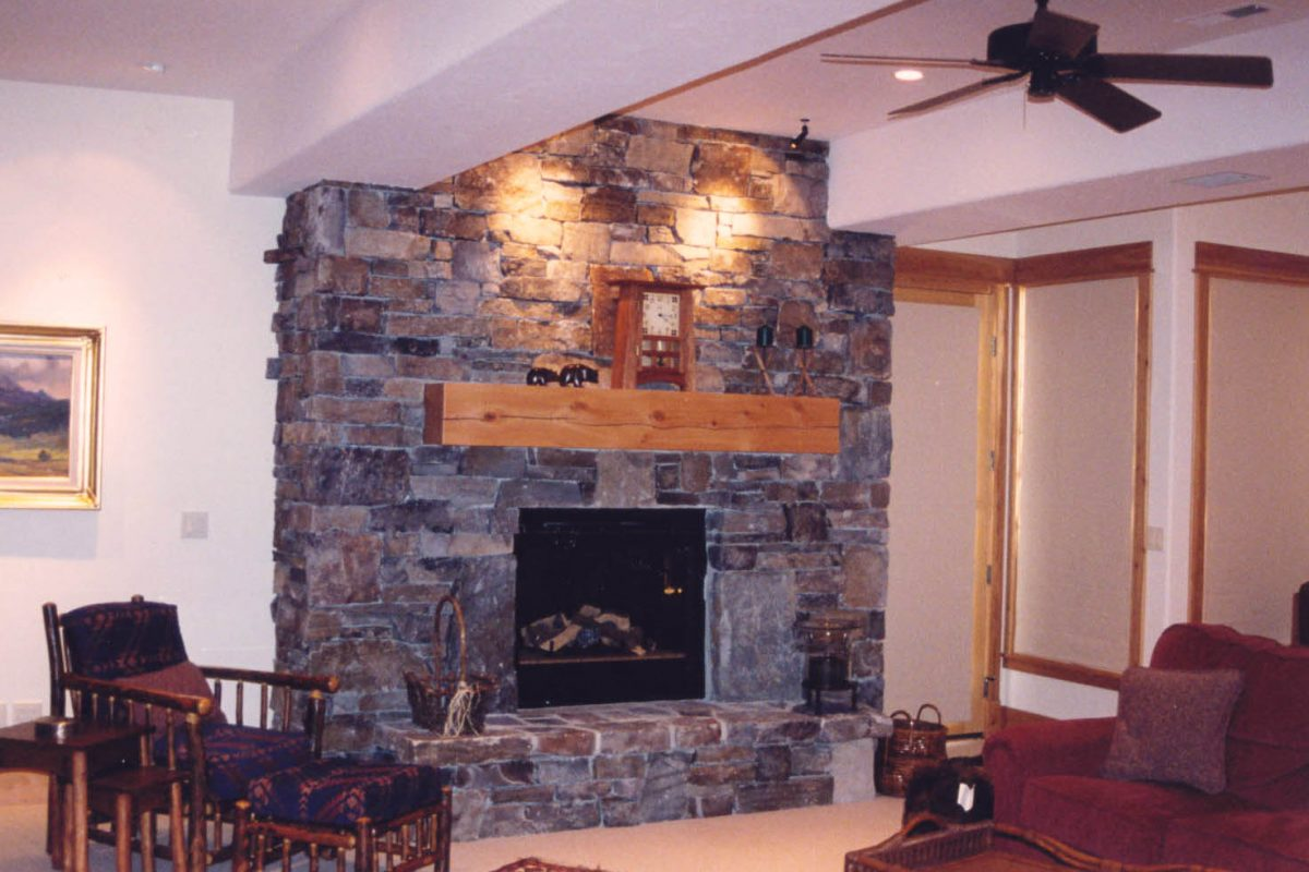 Gallatin Valley Residence+lower+fireplace